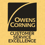 Owens Corning Excellence in Customer Service Award