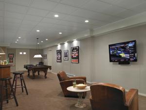 beautiful basement finishing available in northport huntington dix