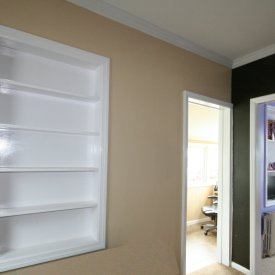 Custom Recessed Shelving Units