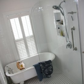 Bathroom Remodeling Photos- Alure Home Improvements on Wet Room With Freestanding Tub  id=97472