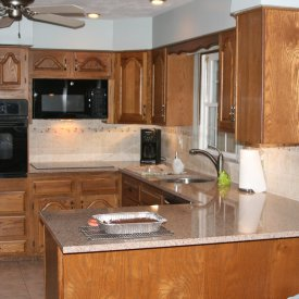 Granite Countertop & Tile Backsplash