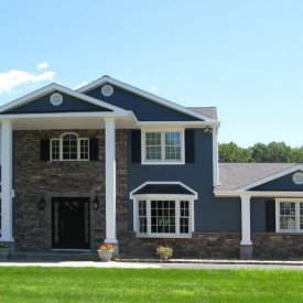 James Hardie Board Clapboard Panel Siding With Cultured Stone